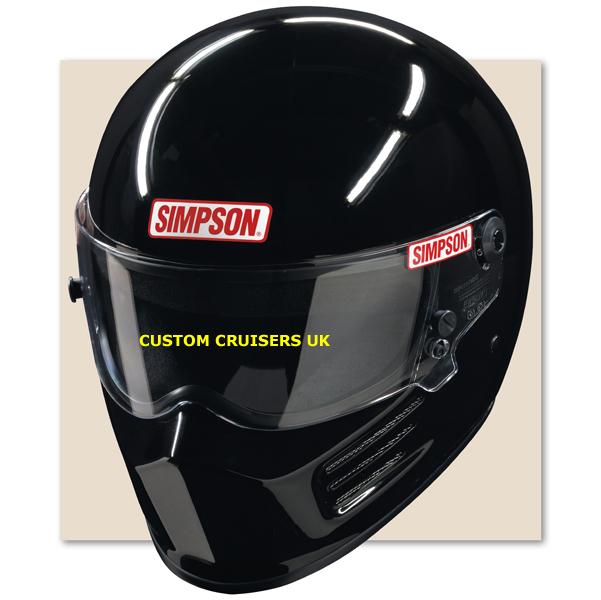 Simpson helmet black visor for sa2005 diamondback super bandit uk delivery